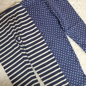 Two pair of navy and white leggings!